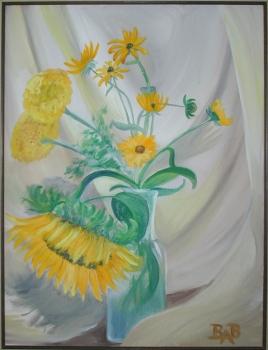sunflower_marigolds